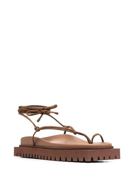 The attico strappy sandals women cigar THE ATTICO   215WS907L007209
