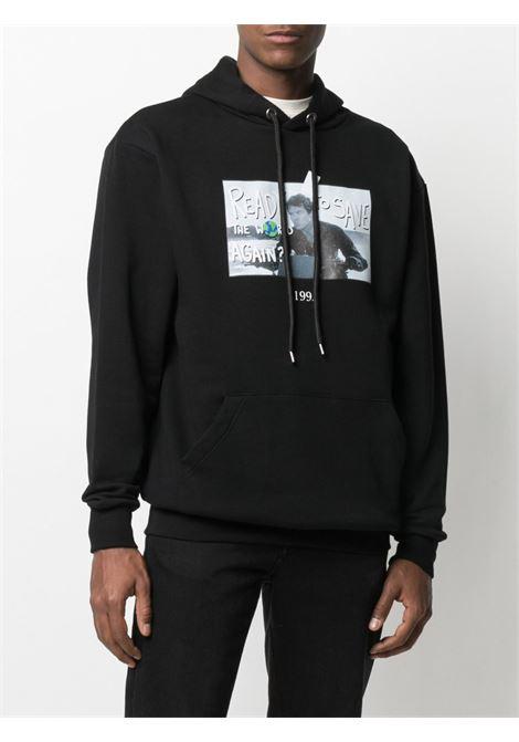 Graphic print sweatshirt THROWBACK | TBS007WORLDBLK