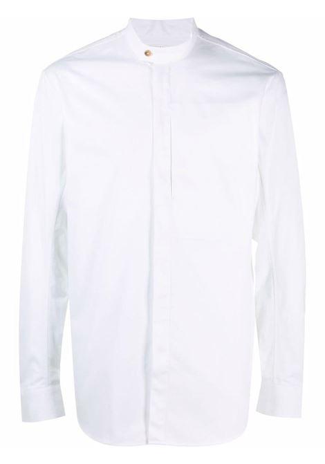 Tom wood camicia con collo a fascia uomo optic white TOM WOOD | Camicie | 21204111