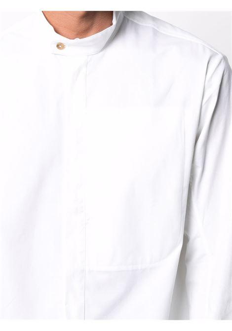 Tom wood band-collar shirt men optic white TOM WOOD | 21204111
