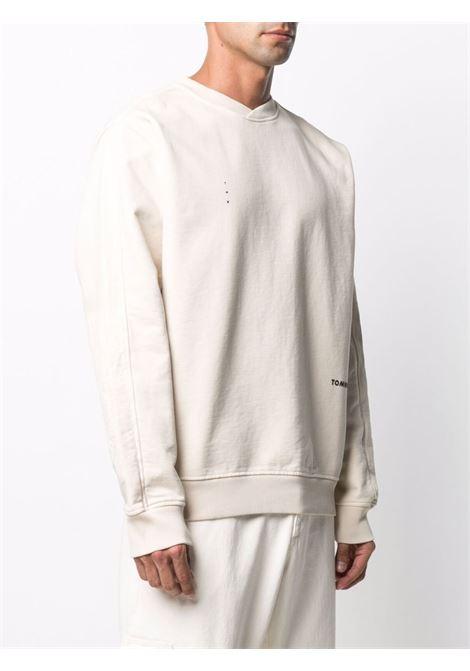 Tom wood logo sweatshirt men ecru TOM WOOD | 21251307