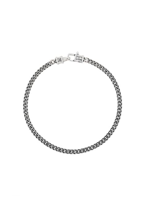 Tom Wood bracciale curb medium uomo silver TOM WOOD | Bracciali | B13029CBM01S925