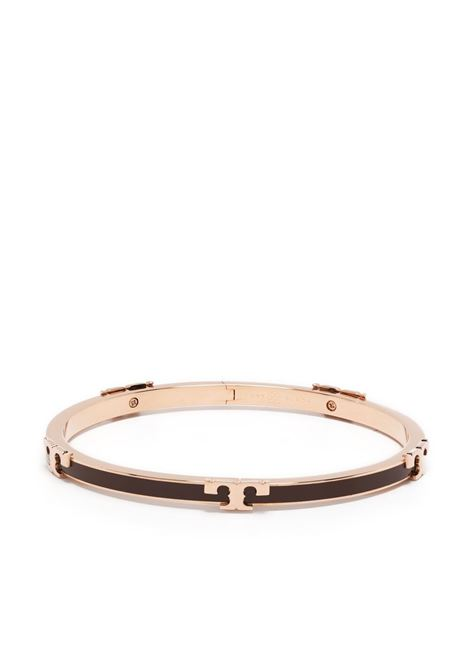 Tory burch bracciale serif-t donna rose gold chocolate brown TORY BURCH | Bracciali | 64928200