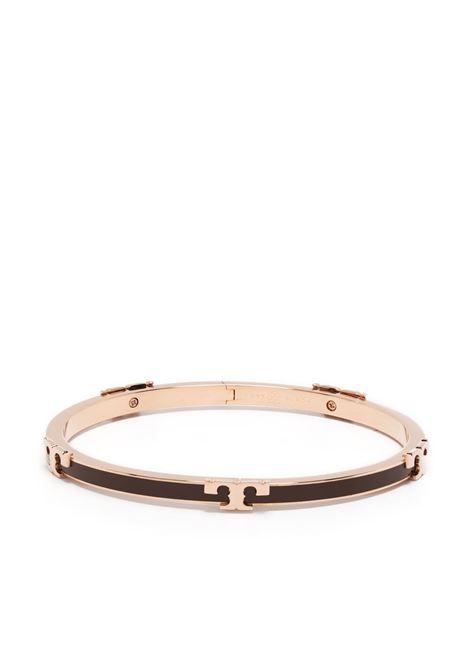Tory burch serif-t bracelet rose gold chocolate brown TORY BURCH | Bracelets | 64928200