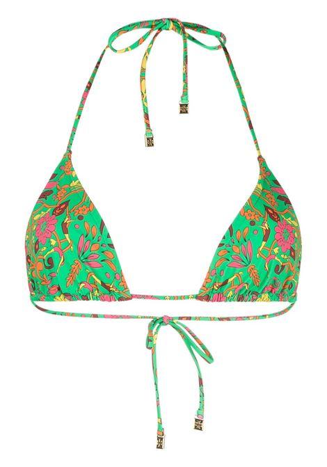 Tory Burch top bikini a fiori donna green splash TORY BURCH | Costumi | 81715300