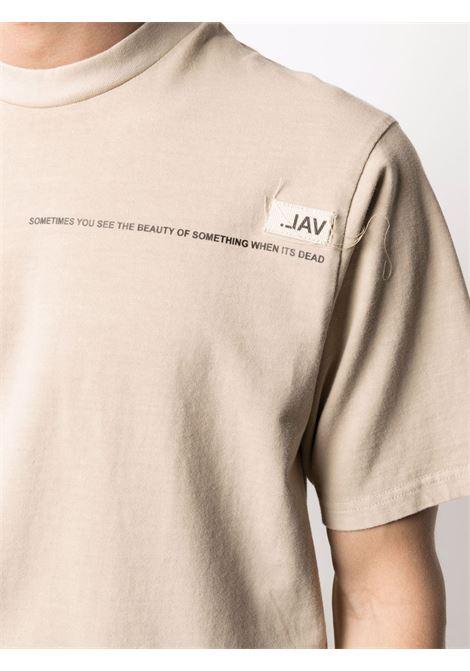 Val.kristopher slogan-print t-shirt men washed oatmeal VAL.KRISTOPHER | VKS210001WASOAT