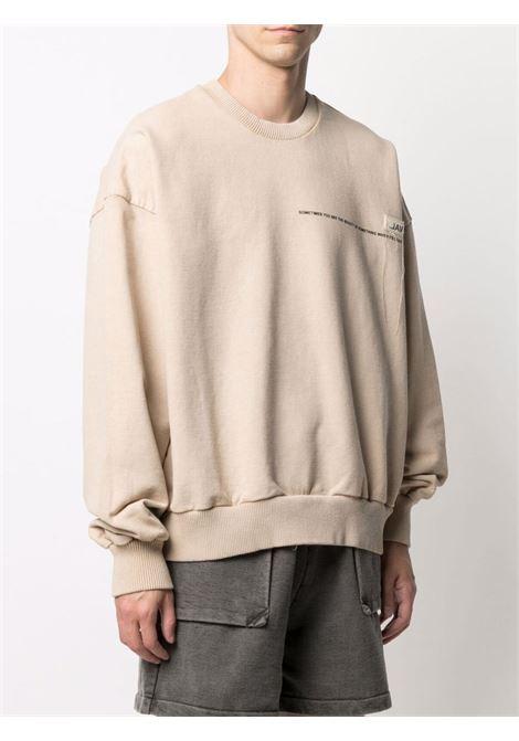 Val.kristopher logo sweatshirt men washed oatmeal VAL.KRISTOPHER | VKSS210019WASOAT