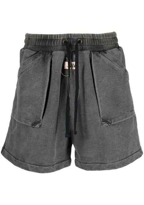 Val.kristopher track shorts men washed black VAL.KRISTOPHER | Bermuda Shorts | VKSS210043WASBLK
