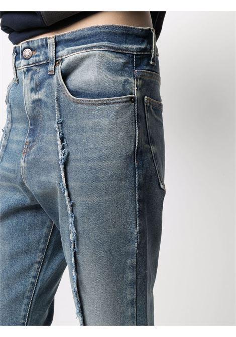 Frayed detailing slim-legged jeans blue beige - men VAL.KRISTOPHER | VKSS210055BLUBEI