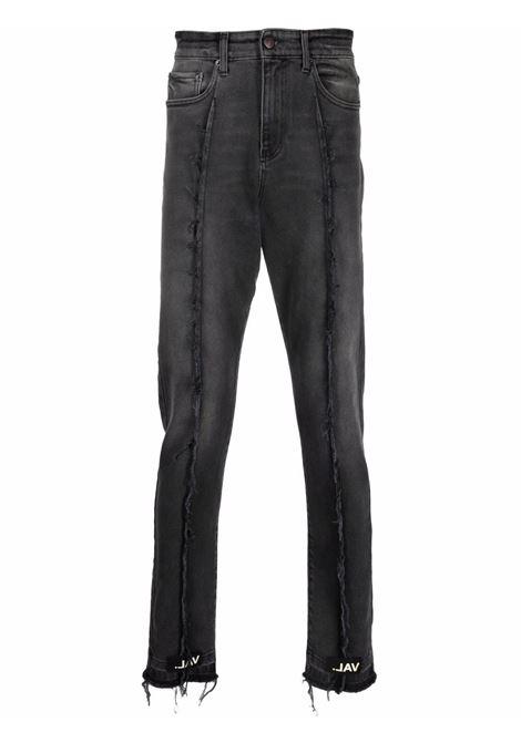 Frayed detailing slim-legged jeans faded black - men VAL.KRISTOPHER | VKSS210056FADBLK