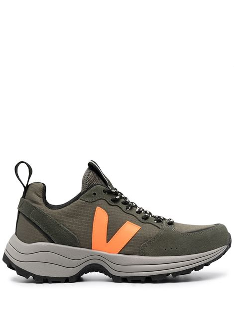 Veja sneakers venturi donna khaki neon orange VEJA | Sneakers | VT012496BKKNNORNG