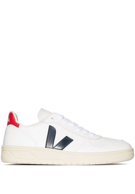 Veja sneakers v-10 donna white nautico VEJA | Sneakers | VX021267AWHTNTC
