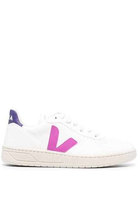 Veja sneakers v-10 donna white purple VEJA | Sneakers | VX072536AWHTPRPL