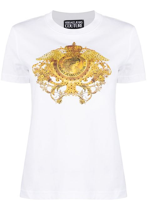 Versace Jeans Couture t-shirt barocco con stampa donna bianco ottico VERSACE JEANS COUTURE | T-shirt | B2HWA72911620003