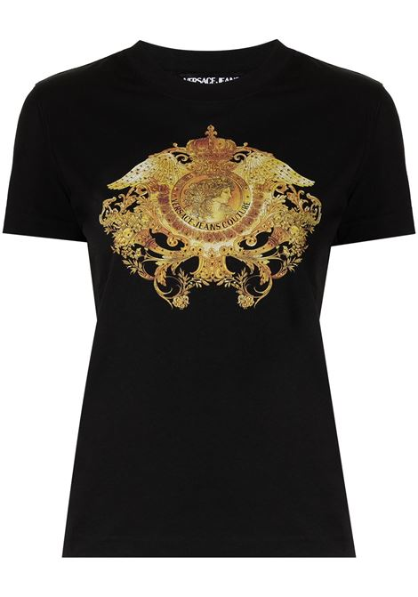 Versace Jeans Couture t-shirt con stampa donna nero VERSACE JEANS COUTURE | T-shirt | B2HWA72911620899
