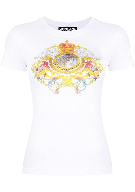 Versace Jeans Couture t-shirt con stampa donna bianco ottico VERSACE JEANS COUTURE | T-shirt | B2HWA7KD30457003