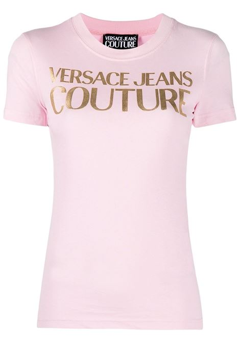 Versace Jeans Couture t-shirt con logo donna rosa confetto VERSACE JEANS COUTURE | T-shirt | B2HWA7TB30319402
