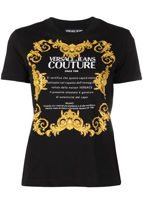 Versace Jeans Couture t-shirt con logo donna nero VERSACE JEANS COUTURE | T-shirt | B2HWA7TJ30319899