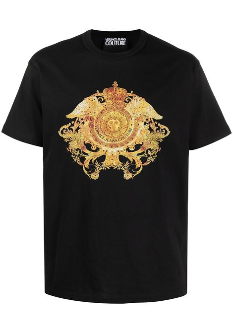 Versace Jeans Couture t-shirt barocco uomo nero VERSACE JEANS COUTURE | T-shirt | B3GWA74011620899