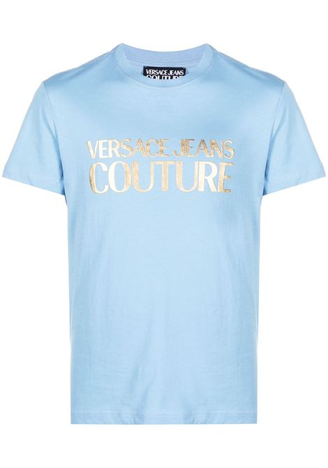 Versace Jeans Couture t-shirt con stampa uomo blue bell VERSACE JEANS COUTURE | T-shirt | B3GWA7TB30319216