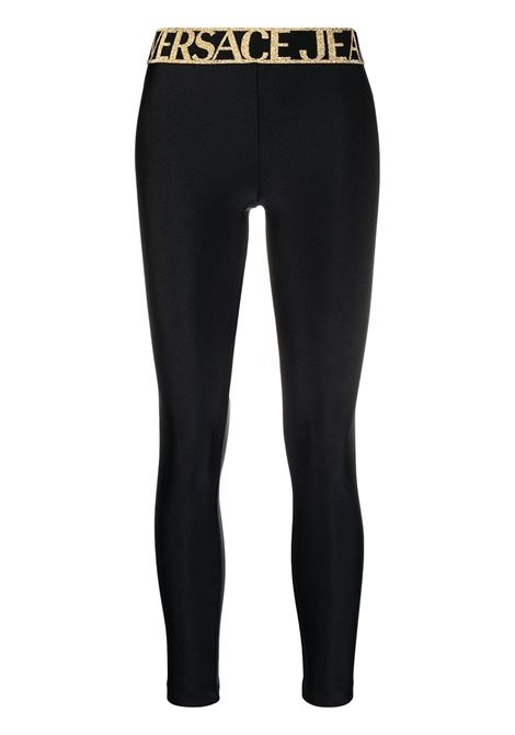 Versace Jeans Couture leggings con stampa donna nero VERSACE JEANS COUTURE | Leggings | D5HWA10104745899