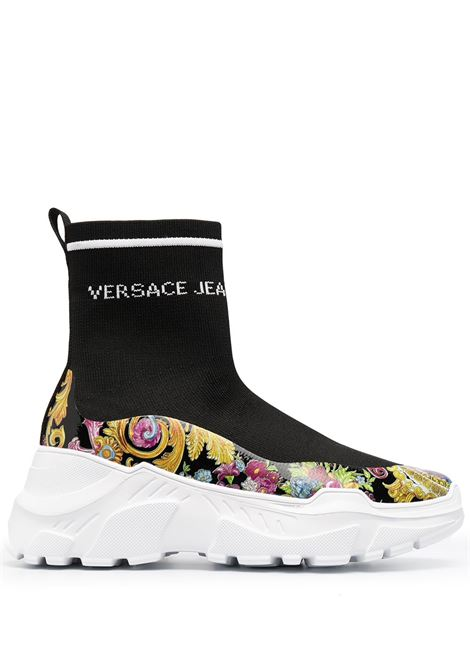 Versace Jeans Couture sneakers alte a calzino donna nero multi VERSACE JEANS COUTURE | Sneakers | E0VWASC571933M09