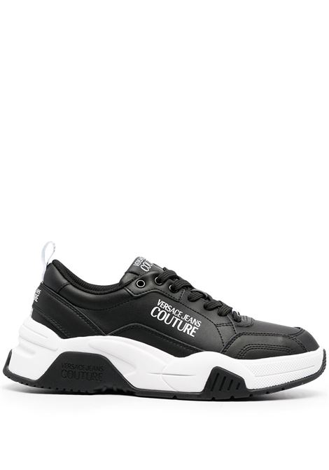 Versace Jeans Couture sneakers con stampa uomo nero VERSACE JEANS COUTURE | Sneakers | E0YWASF671957899