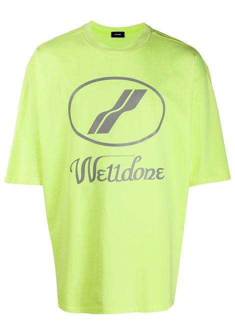 We11done logo t-shirt men neon yellow WE11DONE | T-shirt | WDTP519930YE