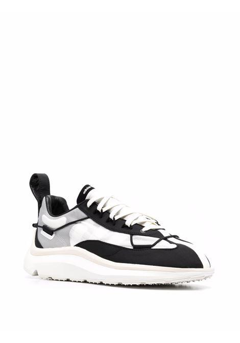 Sneakers shiku con design a pannelli bianco e nero- uomo Y-3 | FZ4321BLKWHT