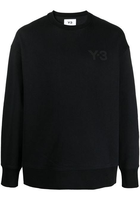 Y-3 felpa con logo uomo black Y-3 | Felpe | GV4194BLK