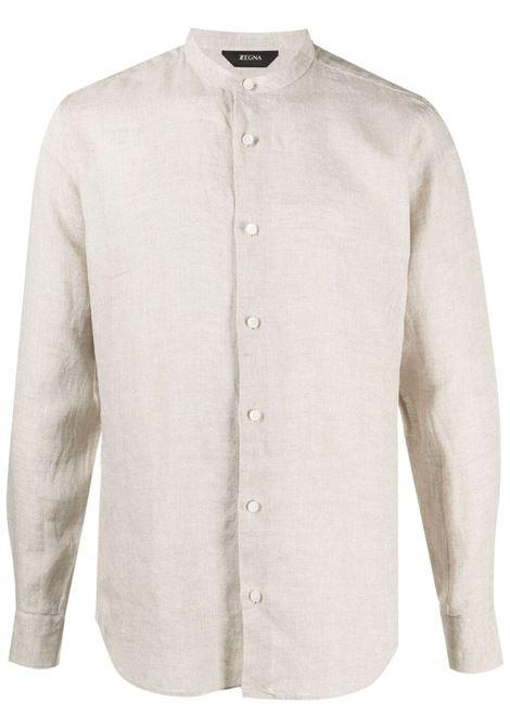 Z Zegna camicia con colletto alla coreana uomo beige Z ZEGNA | Camicie | 905403ZCSF1262