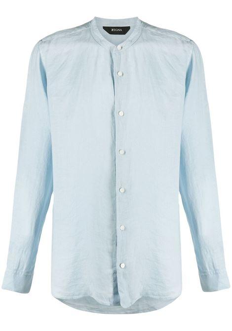 Z Zegna camicia con colletto alla coreana uomo azzurro Z ZEGNA | Camicie | 905412ZCSG1432