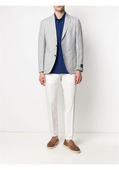 White/blue striped blazer - men Z ZEGNA | 9547711VPSG0124