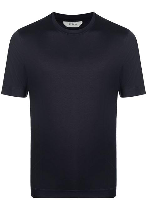Crew-neck t-shirt blue - men Z ZEGNA   T-shirt   VW348ZZ641402