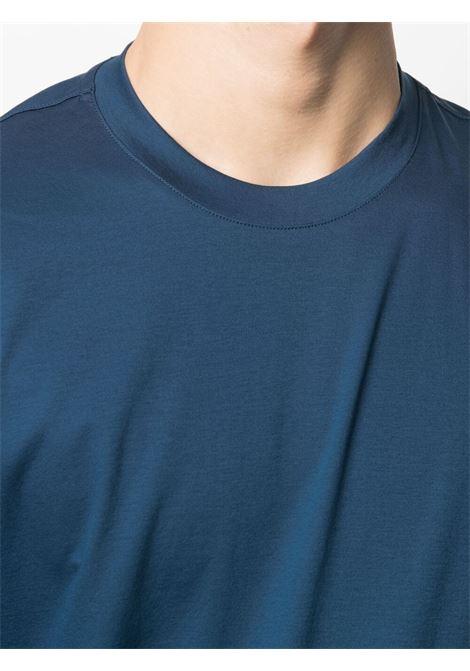 T-shirt a girocollo blu - uomo Z ZEGNA   VW348ZZ641422