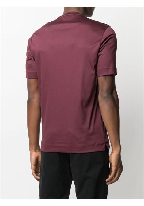 T-shirt a girocollo bordeaux - uomo Z ZEGNA   VW348ZZ641602