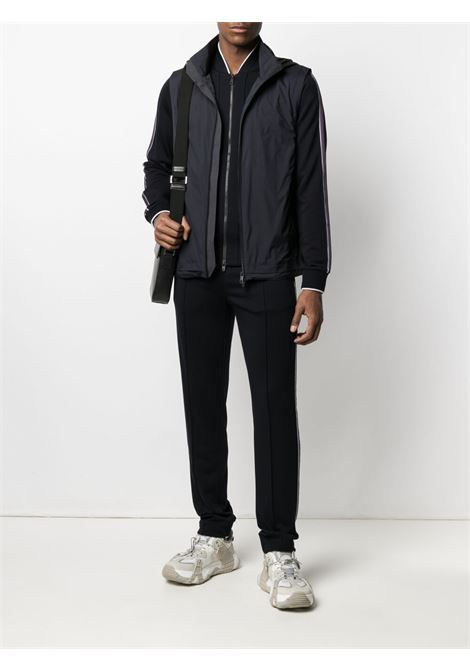 Dark blue lightweight zip-up jacket - men Z ZEGNA | VW475ZZT890402