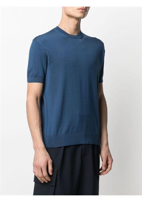 T-shirt a girocollo blu - uomo Z ZEGNA   VWC11ZZ112452