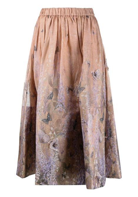 Zimmermann gonna con disegno farfalle donna lavander tea ZIMMERMANN | Gonne | 1063SLMILAVTEA