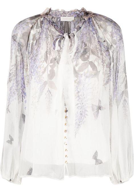 Zimmermann floral blouse women ivory lavander tea ZIMMERMANN | Blouses | 1299TLMIILAVTEA