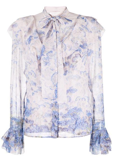 Zimmermann blusa luminous donna cornflower print ZIMMERMANN | Bluse | 1347TLMICNFLP