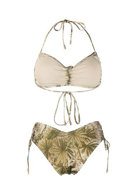 Leaf-print bikini set khaki palm green - women  ZIMMERMANN | 3782WBRGKHPL