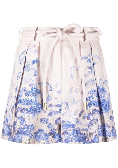 Zimmermann shorts luminous donna cornflower print ZIMMERMANN | Shorts | 7650ALMICNFLP