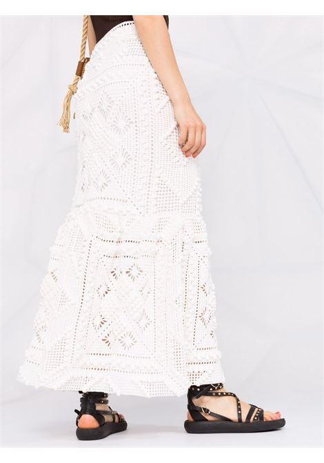 High-waisted crochet skirt white - women  ZIMMERMANN | 9550SCANIVO