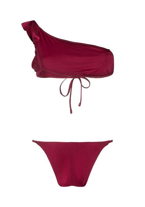 Poppy one-shoulder bikini ruby - women  ZIMMERMANN | 9728WPOPRUB