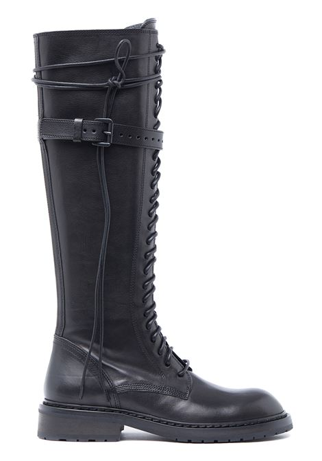 High lace-up boots