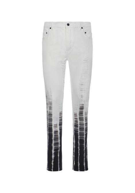 Gradient graphic-print jeans men ANN DEMEULEMEESTER | Jeans | 21013426179003