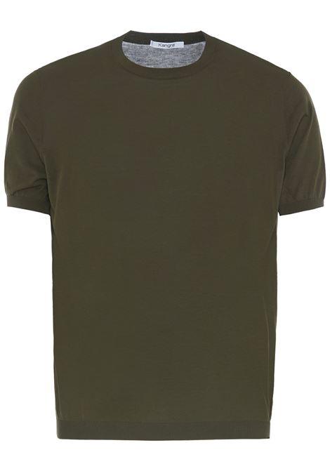 Kangra t-shirt a girocollo uomo verde KANGRA | T-shirt | 20042100090