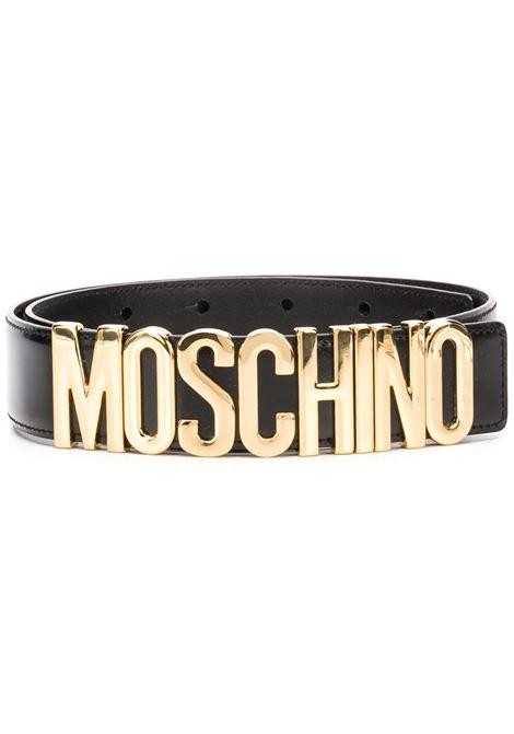 Moschino cintura con logo donna nero MOSCHINO | Cinture | A80128007555