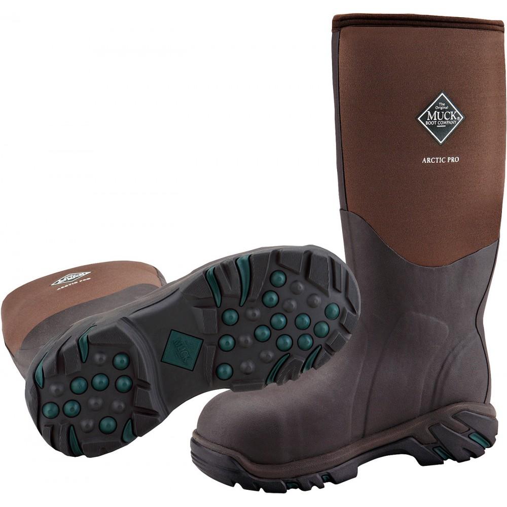 789c47b6ec1 Details about Muck Boots Company Men's/Women's ARCTIC PRO STEEL SAFETY TOE,  BROWN, Neoprene